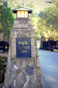 Calistoga Ranch Entrance