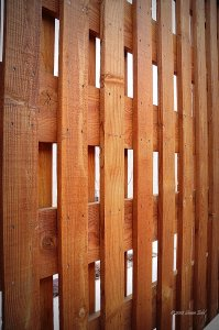 Basket Weave Privacy Fences