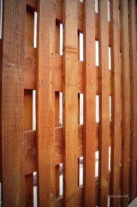 Basket Weave Privacy Fences