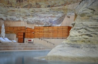 Pool Built Around Rock Formation