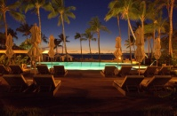 Poolside by evening