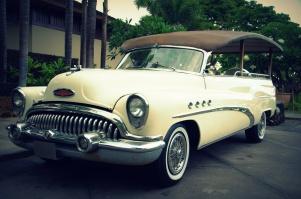 Fun vintage car kept on property