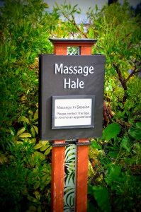 Outdoor Massage Huts