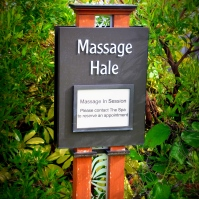 Outdoor Massage Huts