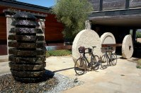 Property sculptures and bike rentals