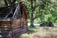 UTV tour to Outlaw cabin