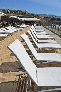 Beach at adult pool