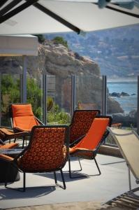 Adult pool seating area