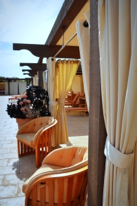 Spa pool cabana seating