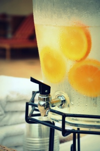Refreshing lemon water