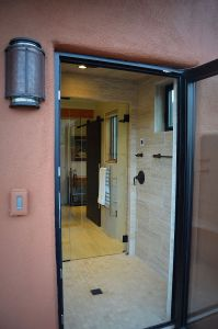 Shower Door to Outside