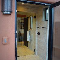 Shower Door to Outside