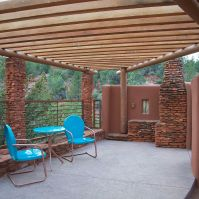 Private Seating Area w/ Fireplace