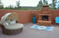 Bedroom Patio w/ Fireplace