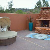 Bedroom Patio w/ Fireplace